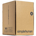 simplehuman® Trash Can Liner Code X - 21 Gallon,  26 X 34.6, Pack of 200
