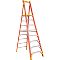 Werner 8' Type 1A Fiberglass Podium Ladder - PD6208