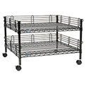 "Nexel™ Black Wire Shelf Copier Stand/Media Supply Cart, 2-Shelf, 32""W x 30""D x 20""H"