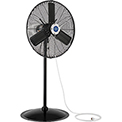 Outdoor Misting Oscillating Pedestal Fan, 24 Inch Diameter, 3/10 HP, 7700 CFM