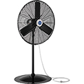 30 Inch Outdoor Misting Oscillating Pedestal Fan 3/10 HP 8,400 CFM