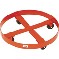 "Modern Equipment MECO 437S Dolly for Overpack & Salvage Drums 3"" Steel 1200 Lb."