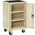 Mobile Storage & Charging Cart for 36 iPad® Tablet Devices, Putty, Assembled