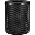 Global™ Thermoplastic Coated 32 Gallon Mesh Receptacle w/Flat Lid - Black