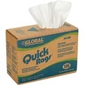 Global™ Quick Rags™ Light Duty Pop-Up Cleaning Wipers White, 176 Sheets/Box, 10 Boxes/Case