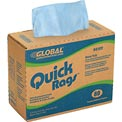Global™ Quick Rags™ Heavy Duty Pop-Up Wipers Blue, 80 Sheets/Box, 5 Boxes/Case