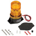 High-Profile Amber LED Permanent Mount Forklift Strobe Light - 12 to 110 Volts