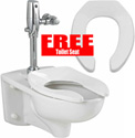 American Standard Afwall 3351101.020 Universal Bowl Only 1.1/1.6GPF with Free Toilet Seat