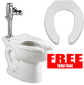 "American Standard Madera 2234001.020 Elongated 15""H Toilet, 1.1-1.6 GPF with Free Toilet Seat"