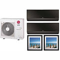 LG 36,000 BTU Quad Zone Mini Split System with 2 Art Cool Mirror and 2 Art Cool Gallery Evaporators