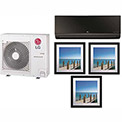 LG 36,000 BTU Quad Zone Mini Split System with 1 Art Cool Mirror and 3 Art Cool Gallery Evaporators