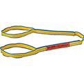Global Industrial™Poly Web Sling, HD, Eye&Eye w/ Durable Edge, 4 Ft L-1600/1280/3200 Lbs Cap