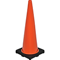 "36"" Traffic Cone, Non-Reflective, Black Base, 10 lbs"