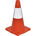 "18"" Traffic Cone, Reflective, Solid Orange Base, 2-1/2 lbs"