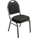 "Banquet Chair - Fabric - 2"" Seat - Black - Pkg Qty 4"