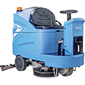 "Global™ Auto Ride-On Floor Scrubber 34"" Cleaning Path, Three 170 Amp Batteries"