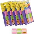 Post-it® Durable Tabs 686-PGO, 1 in x 1.5 in Pink, Green, Orange, 66 Tabs/Pack