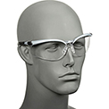 3M™ BX™ Protective Eyewear, Clear Lens, Silver/Black Frame, 1 Each