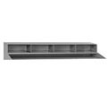 "4 Pigeon Hole Riser for 48""W Shop Desk- Gray"
