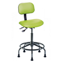 "Bio Fit Operator Chair - Vinyl - Height Adjustable 21"" - 26"" - Black"