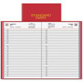 "AT-A-GLANCE® Standard Diary Appointment Book 8-7/8"" x 6-1/8"" x 1"" Red"