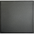 Genesis Stucco Revealed Edge PVC Ceiling Tile 770-07, 2'L X 2'W, Satin Black - 12/Case