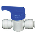 "1/4"" Hand Valve Union Connector  - Push-In Valve"