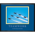 "Teamwork (Jets), Framed, 30"" x 24"""