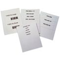 "Laser Insert Sheets, Letter - Pref. 2"" x 4"" for T-Slot TS-24 (500 pcs/pkg)"
