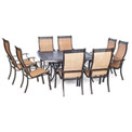 Hanover Manor 9-Piece Outdoor Dining Set w/ Large Square Table, Cedar