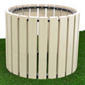"""Polly Products 30"""" Diameter Round Planter, Weathered"""