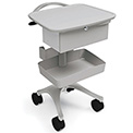 Ergotron® Zido® Phlebotomy Medical Cart, Cool Gray