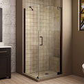 "Dreamline SHEN-4130300-06 Elegance Pivot Shower Enclosure, Bronze, 30"" x 30"" x 72"""