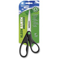 "Westcott® KleenEarth Recycled Stainless Steel Scissors, 8""L Straight, Black"
