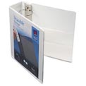 "Durable Vinyl View Binder, 3"" Capacity, White"