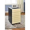 Benjamin Vertical 3-Drawer Mobile File Cabinet Natural and Gray
