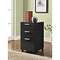 Princeton 3-Drawer Mobile File for Home Office Espresso