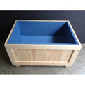 "Wood Crate With 1"" Polyethylene Foam Lining Two-Way Entry, 36"" L x 24"" W x 30"" H"