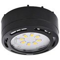 Amax Lighting LEDPL3-BLK LED Puck Light, 12W, 3000 CCT, 1080 Lums, 82 CRI, Black, 3 light kit