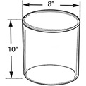 "Azar Displays 556810 Acrylic Cylinder, 8"" x 10"", Clear ,1 Piece"