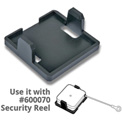 "Azar Displays 600071, Square Security Reel HLR, 2""W x 2""H x 2""D, CLR, 10 Pc"