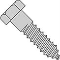 "Hex Lag Screw - 1/4-10 x 1"" - Low Carbon Steel - Zinc CR+3 - Pkg of 125 - Brighton-Best 486106"