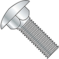 "Carriage Bolt - 1/4-20 x 2-1/2"" - Round Head - Steel - Zinc CR+3 - Grade A - FT - A307 - Pkg of 100"