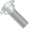"Carriage Bolt - 3/8-16 x 4"" - Round Head - Steel - Zinc CR+3 - Grade 5 - FT - UNC - Pkg of 25"