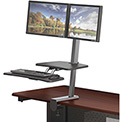 Balt® Desk Mounted Sit/Stand Workstation - Dual Monitor