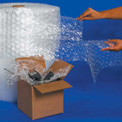 "UPSable Bubble Rolls 24"" x 125' x 1/2"", Perforated, Clear, 2/PACK"