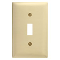 Bryant SB1 Toggle Plate, 1-Gang, Standard, Brass