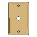 Bryant SBP11 Telephone and Coax Plate, 1-Gang, Standard, Brass Plated, Box