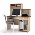Active Computer Workstation in Copper Cherry & Northern Maple