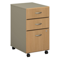 Bush Furniture Three Drawer File (Assembled) - Light Oak - Series A